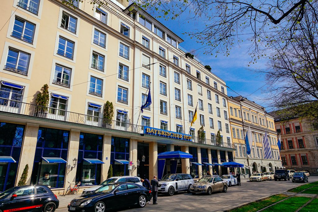 The bayerische Hof luxury hotel in Munich