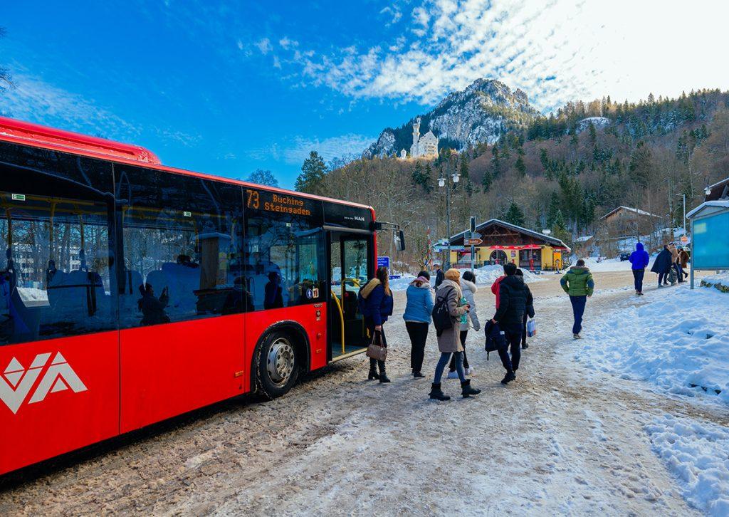 The bus stop below Neuschwanstein Castle