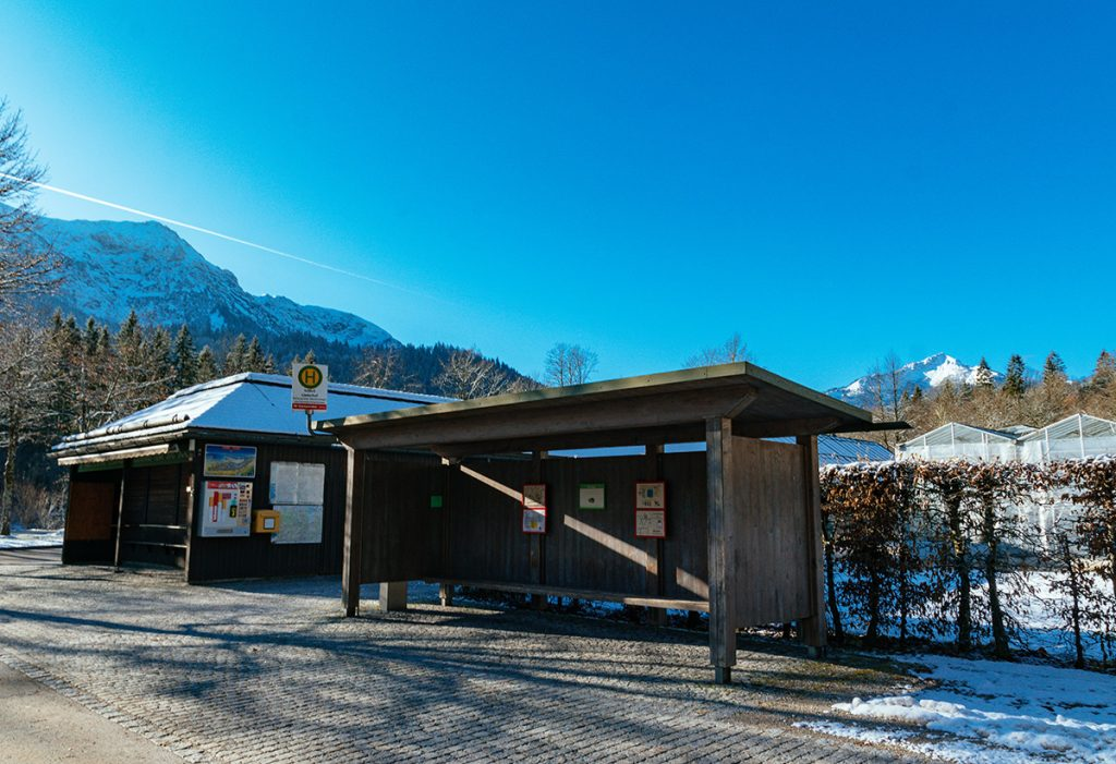 A typical regional bus stop in Bavaria