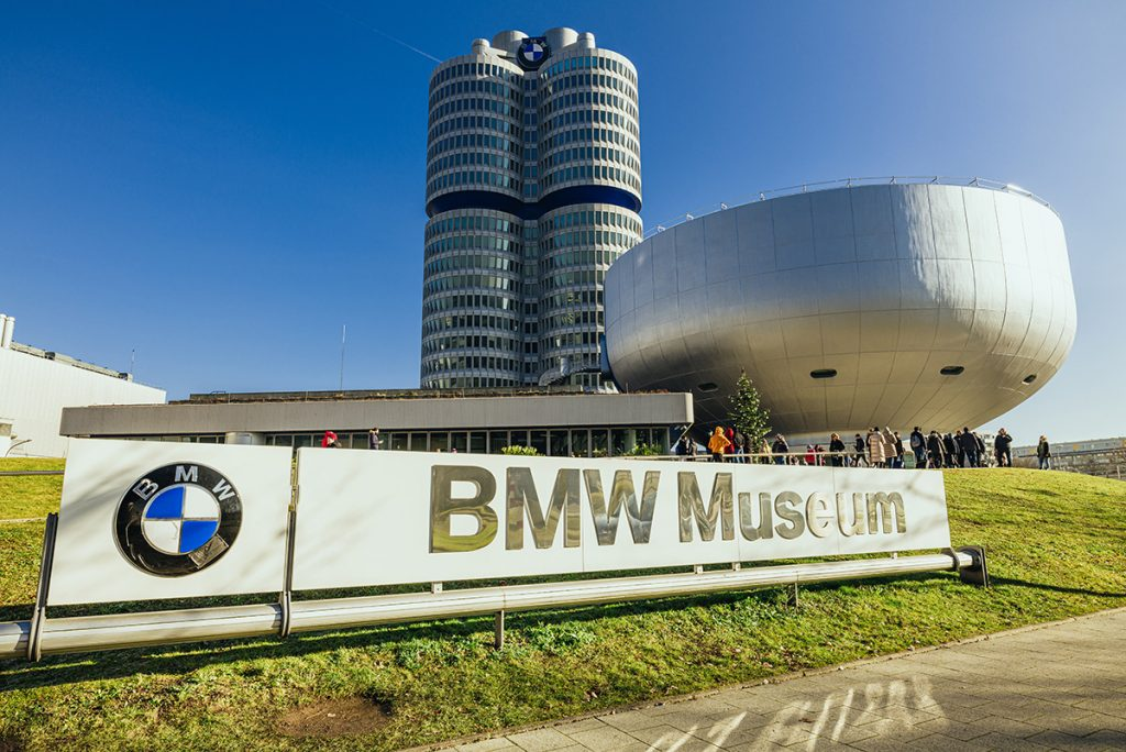 The BMW Museum and BMW tower in the north of Munich