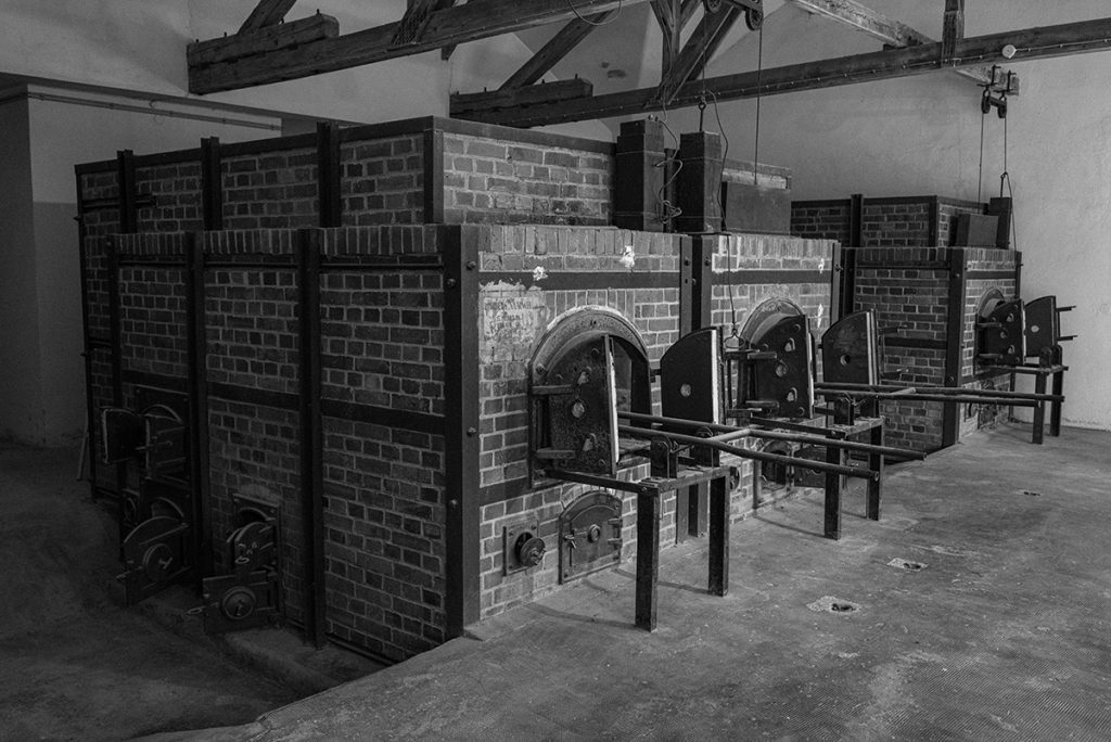 The crematorium in the barrack x in Dachau Concentration Camp