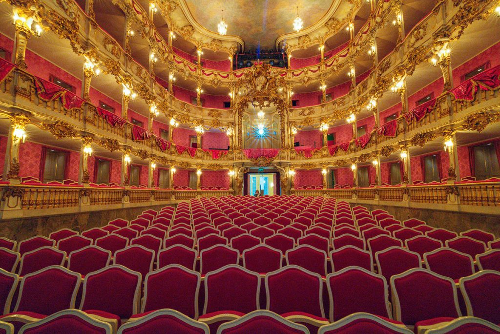 Inside the fantastic Cuvilliés Theater in the Residence Palace in Munich