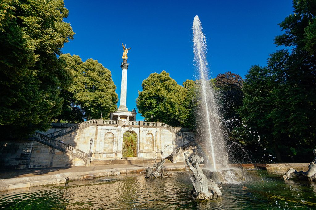 The Friedensengel in Bogenhausen on a particulary sunny day in Munich