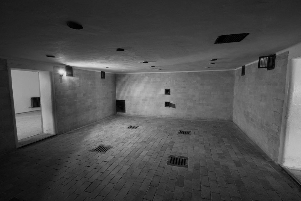 The gas chamber of the Dachau Concentration Camp
