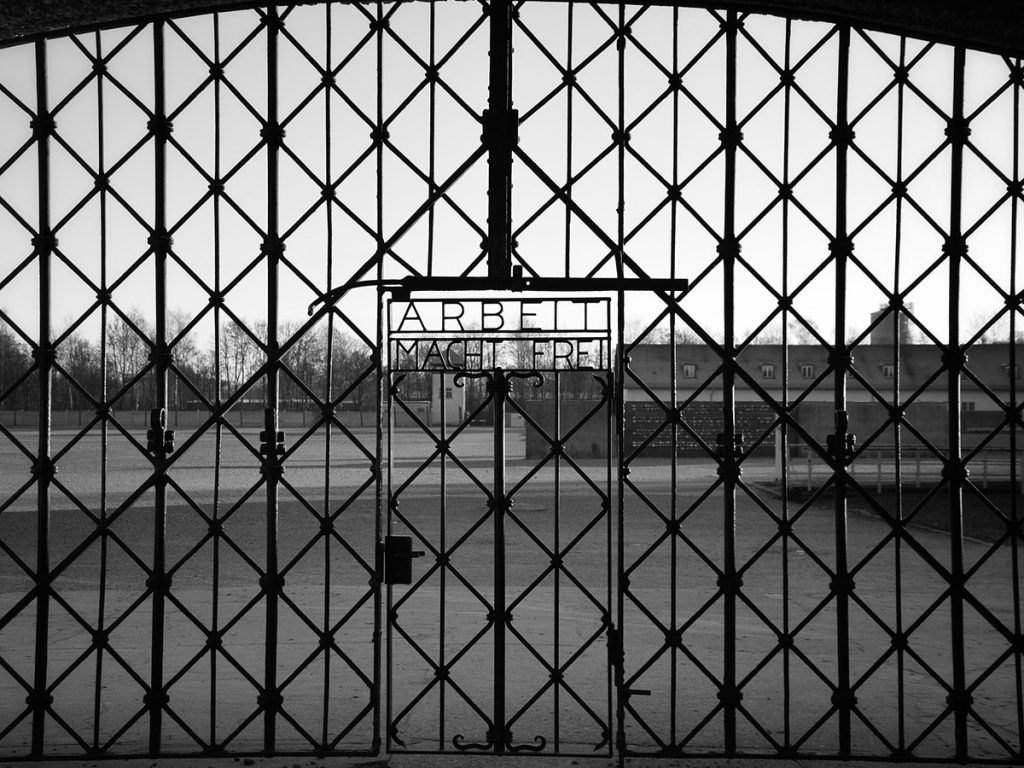 The entrance gate of the Dachau Concentration camp