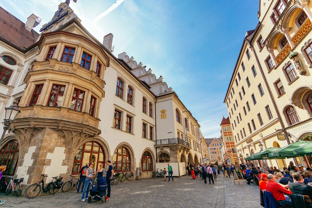 The Hofbräuhaus in the old town of Munich
