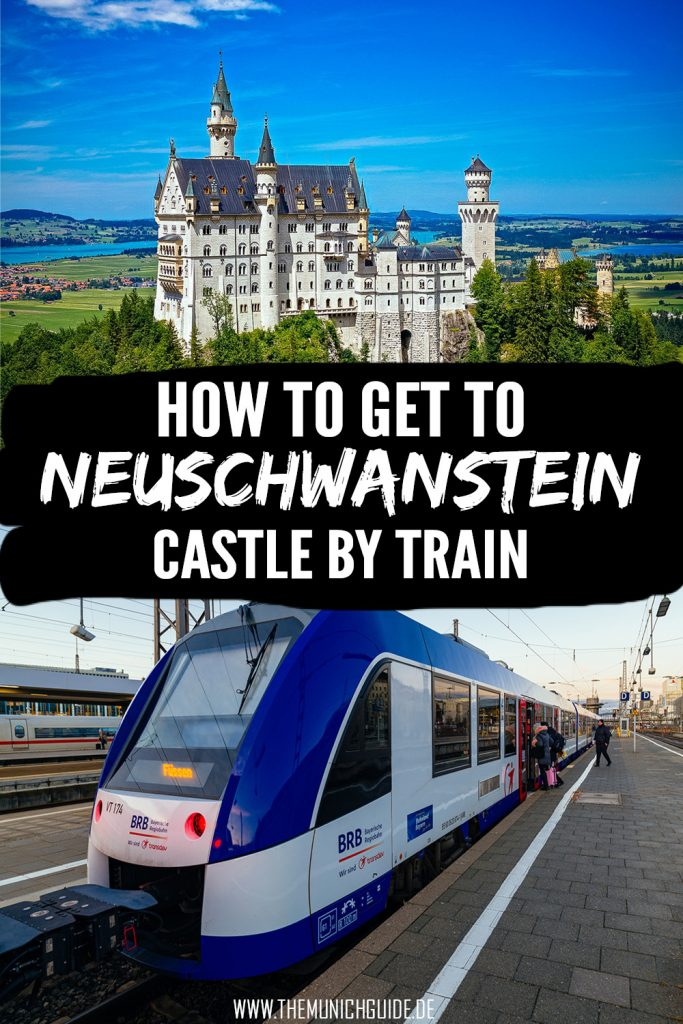 How to get from Munich to Neuschwanstein Castle by train - a detailed travel guide written by a local. Where to buy tickets, how much they costs, which bus to takes and what is the fastest connection from Neuschwanstein Castle to Munich