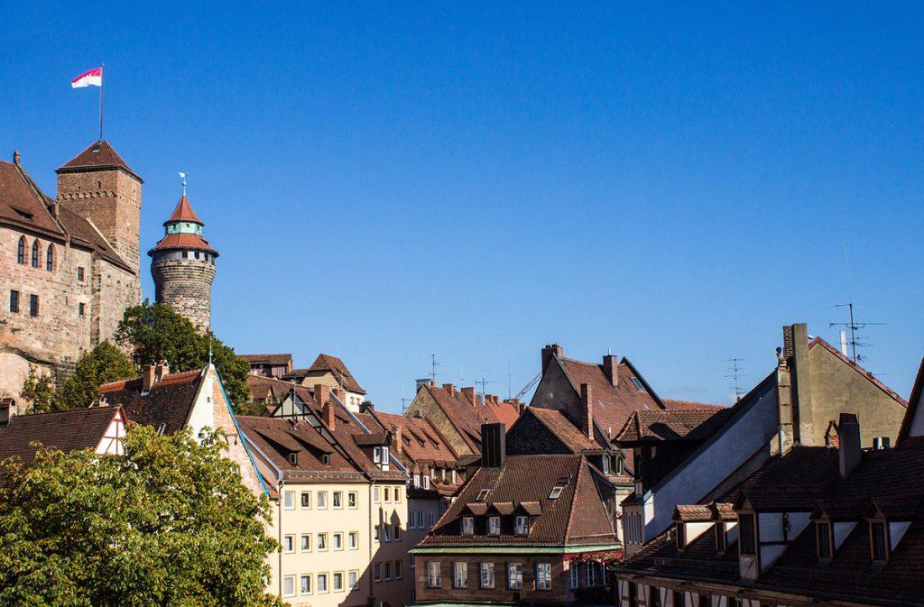 Nuremberg's Kaiserburg castle near Munich