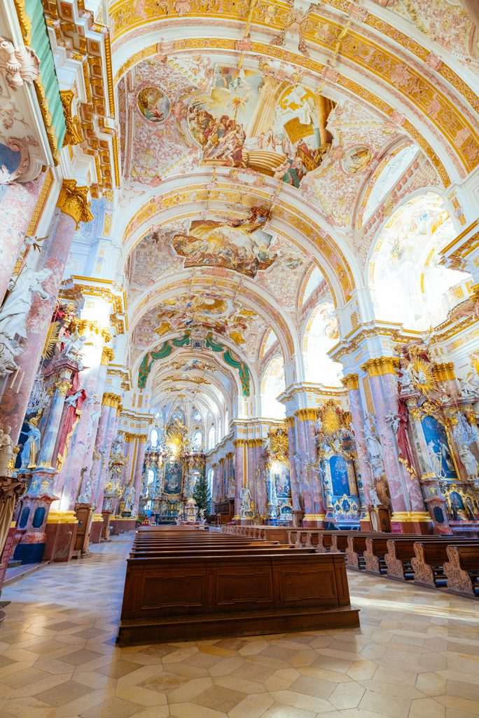 Inside the Fürstenfeld Abbey - a nice half-day trip from Munich