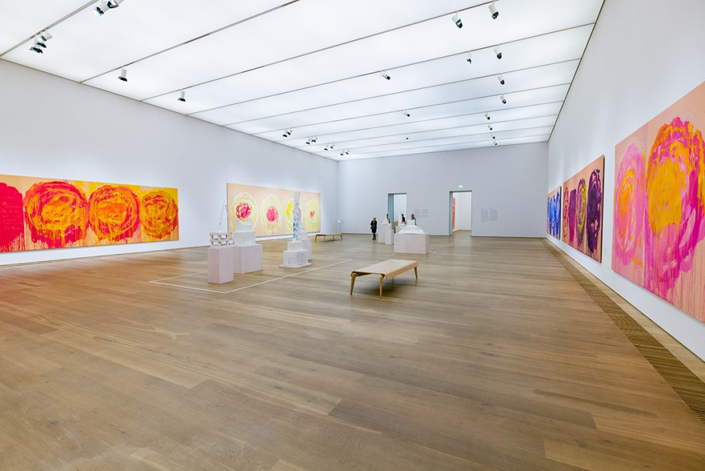 Inside the museum Brandhorst (a room dedicated to the roses of Cy Twombly)