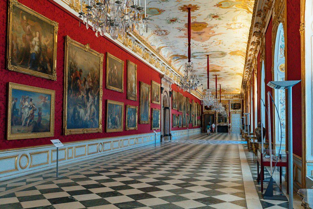 The grand gallery inside Schleissheim palace near Munich