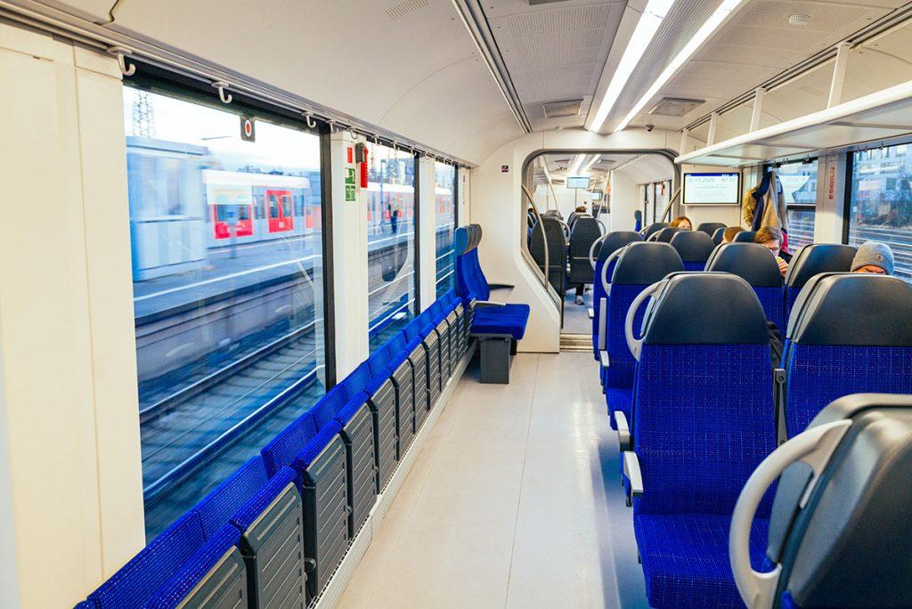 the train from Munich to Neuschwanstein castle