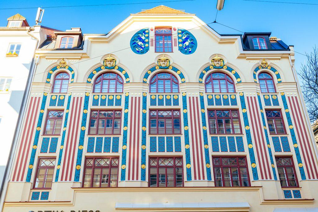 Art Nouveau houses at Ainmillerstrasse in Schwabing, Munich
