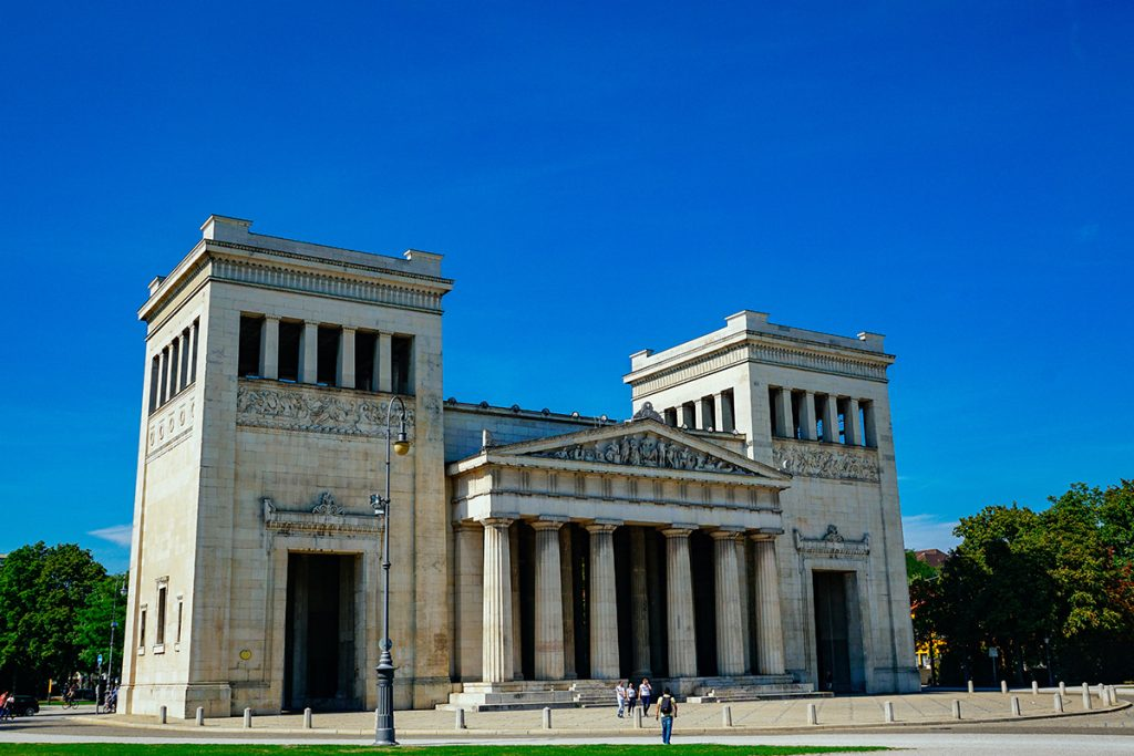 The Propylaen on the Königsplatz in Munich
