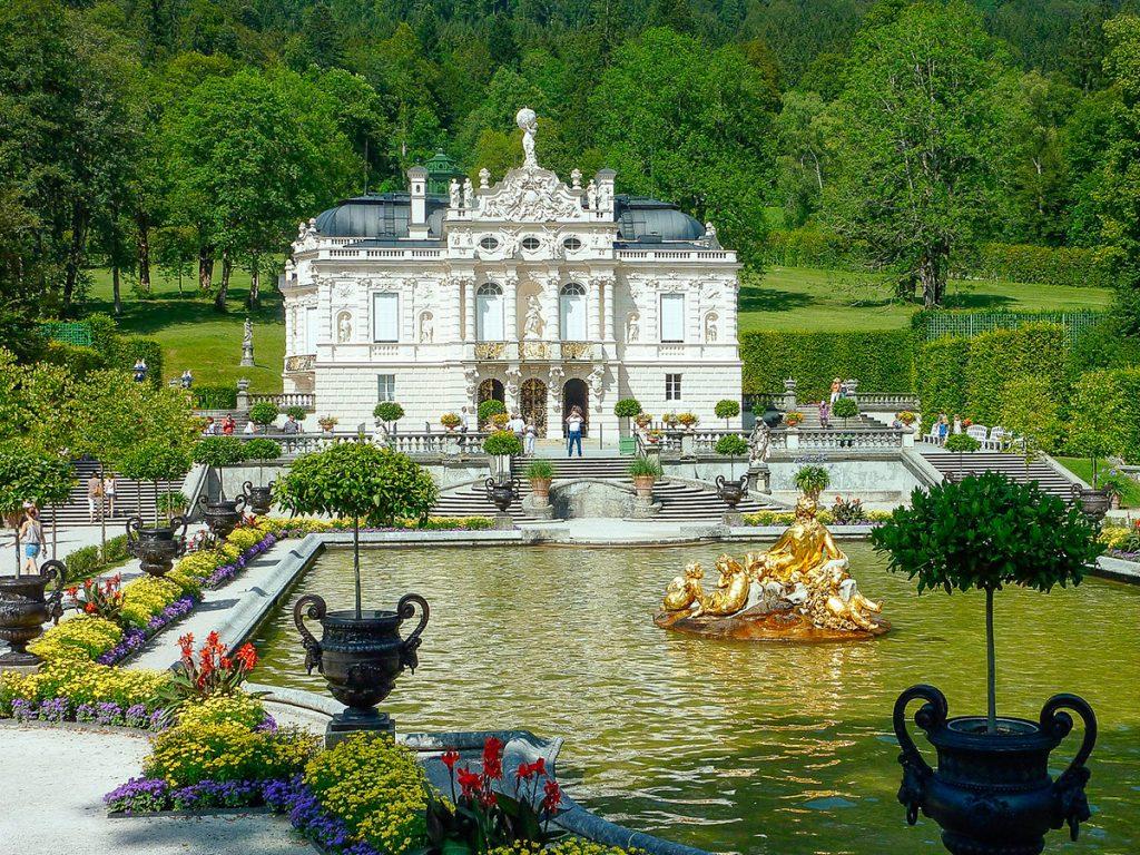 Linderhof palace near Ettal, Germany in SUmmer