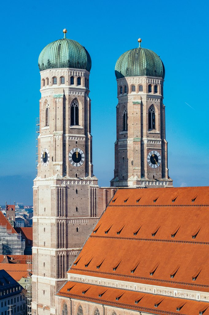 The baroque towers of the Marienkirche Munich