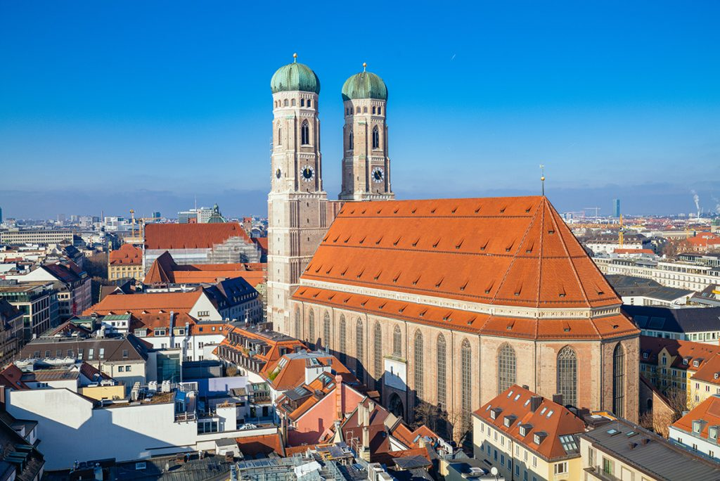 The Marienkirche as seen from the new Town Hall