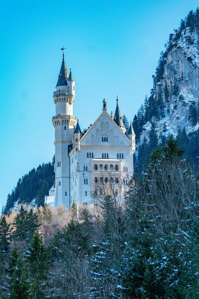 One of the best view points of Neuschwanstein Castle in winter