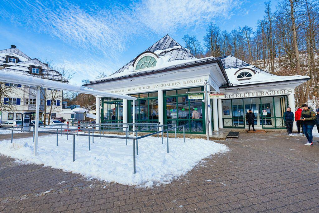 The ticket shop for Neuschwanstein castle