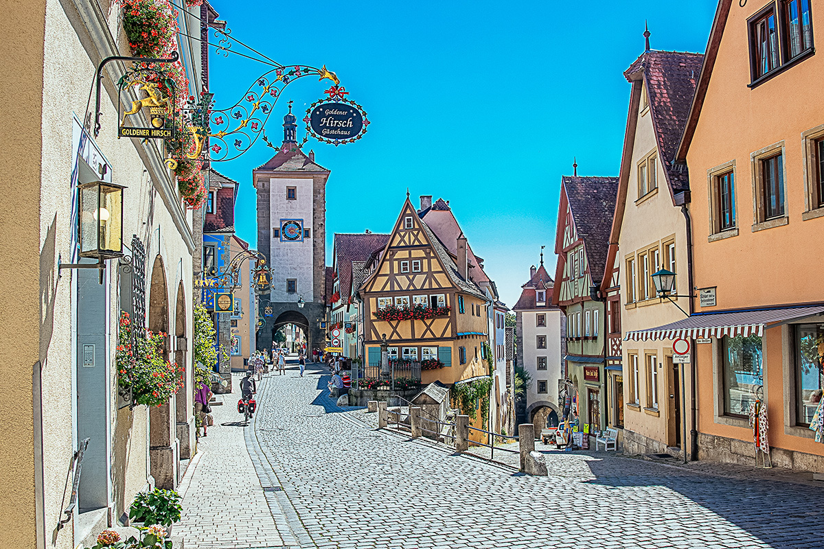 The famous Plönlein in Rothenburg ob der Tauber