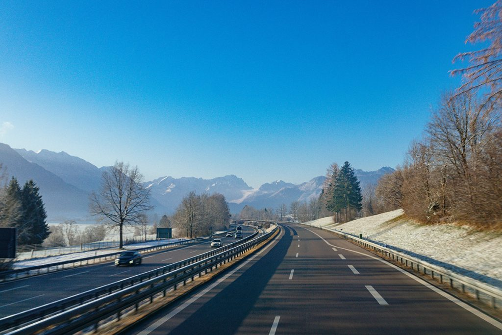 The road to Neuschwanstein castle from Munich
