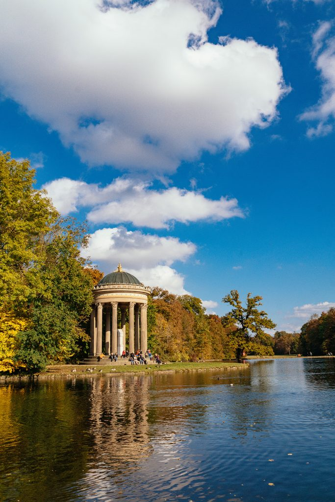 The Temple of Apollo in the park of Nymphenburg Palace in Munich
