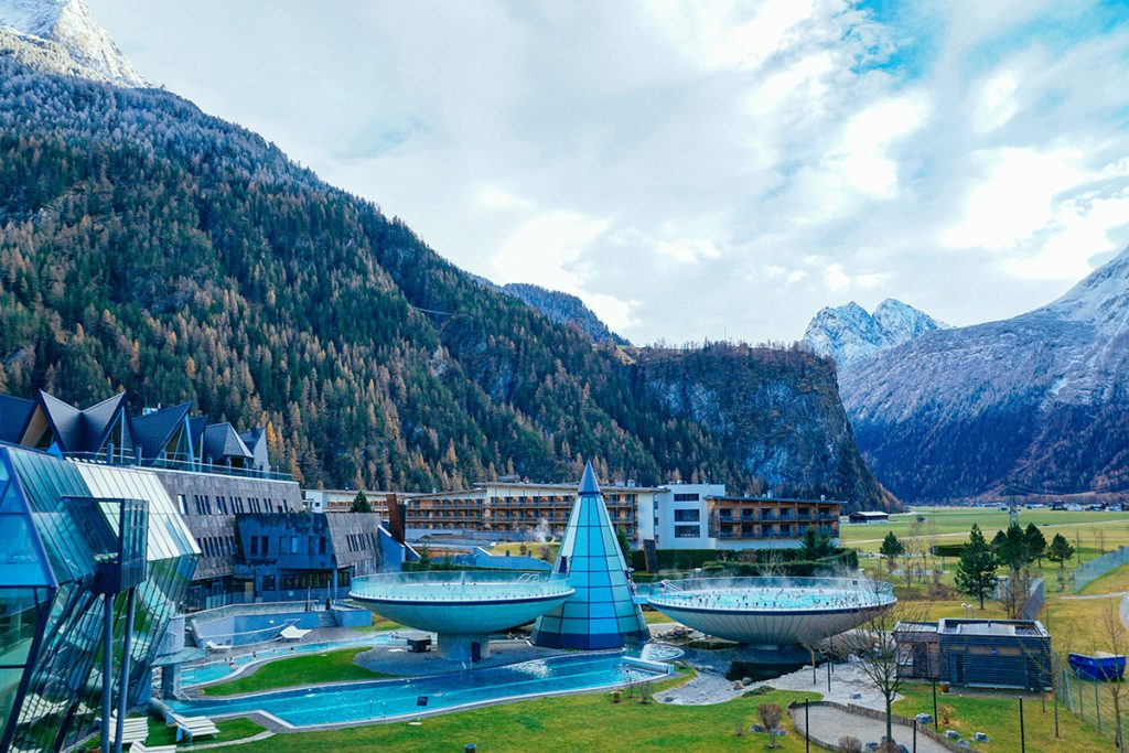 The Aquadome thermal bath near Innsbruck, Austria