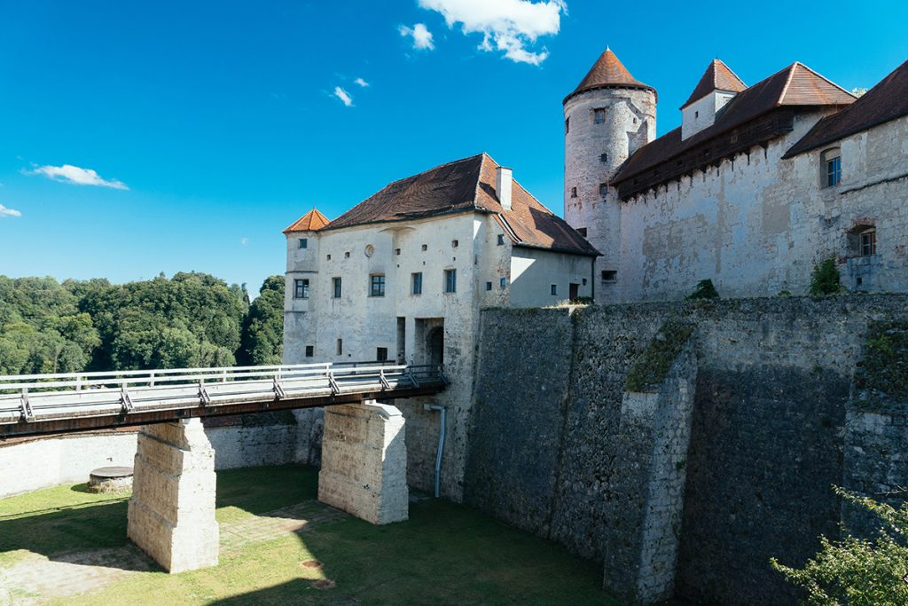 The entrance to the Burghausen Castle