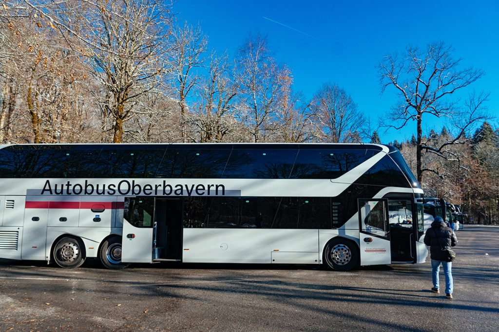 The tour bus to Neuschwanstein Castle