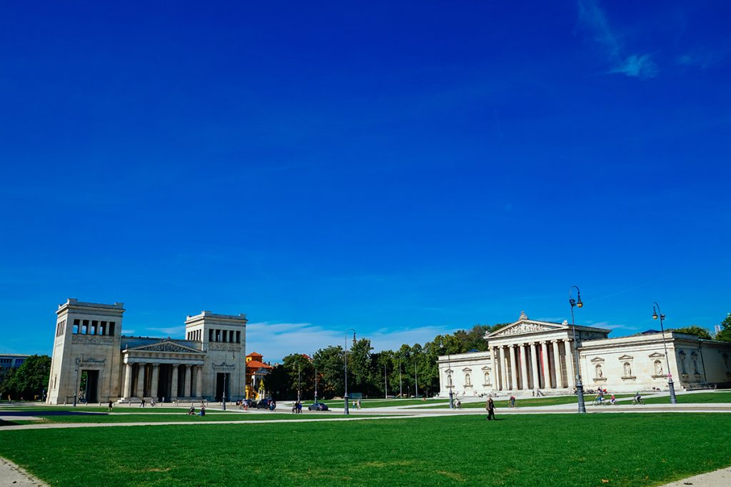Panorama of the Königsplatz square in the heart of Munich