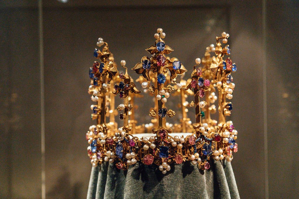 The medieval english crown in the treasury museum of the Munich Residence Palace