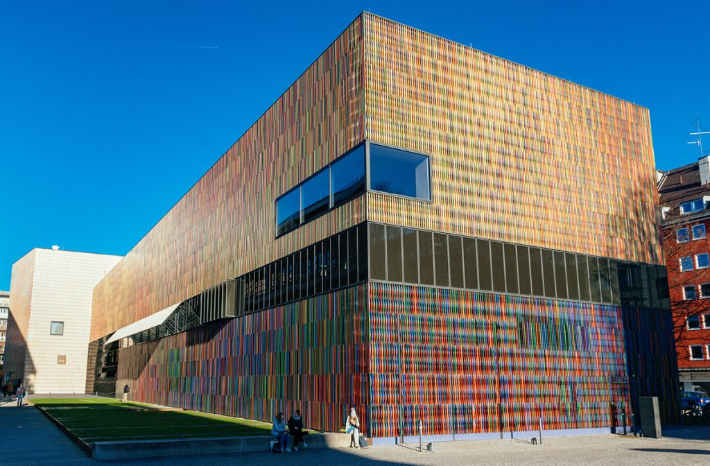 The colorful backside of the Museum Brandhorst