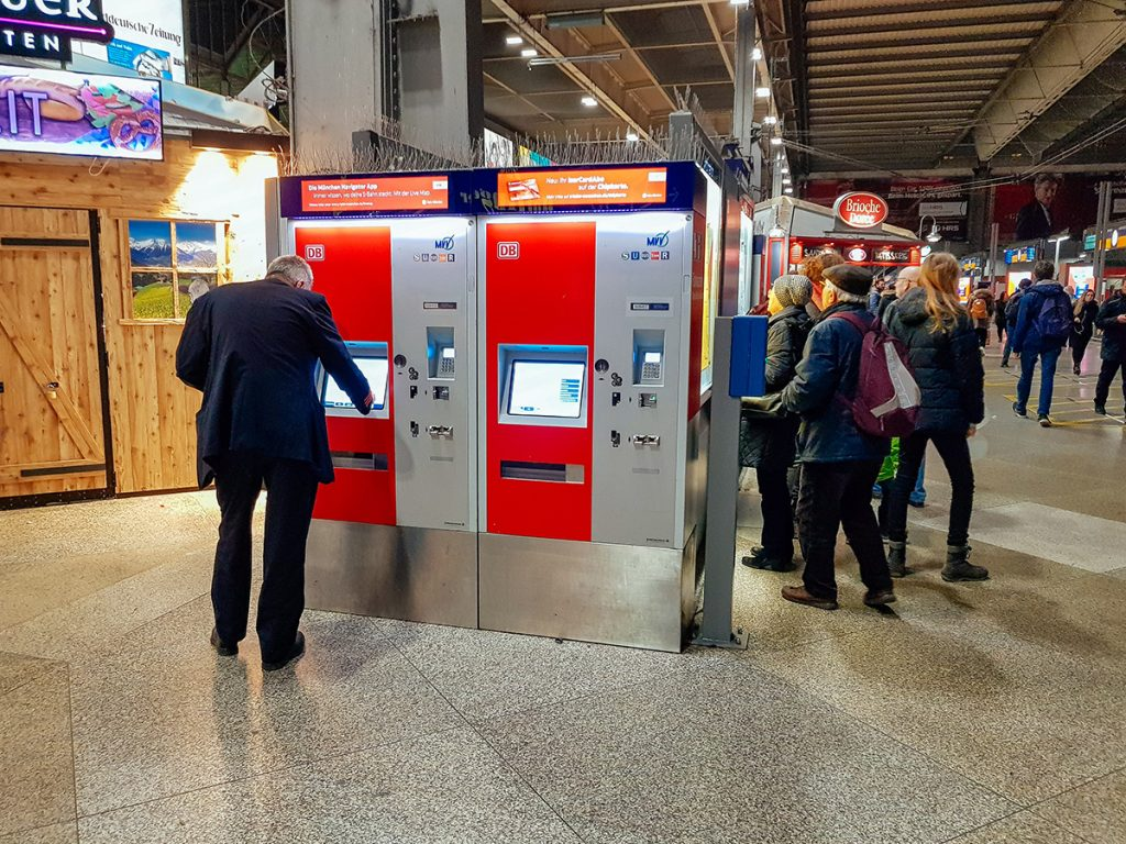 Ticket vending machines at central station munich