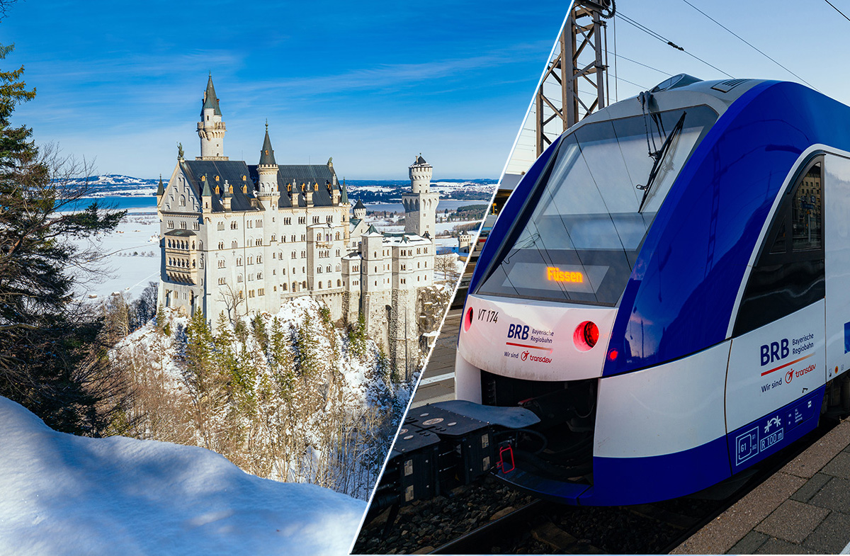 How to get from Munich to Neuschwanstein Castle by train
