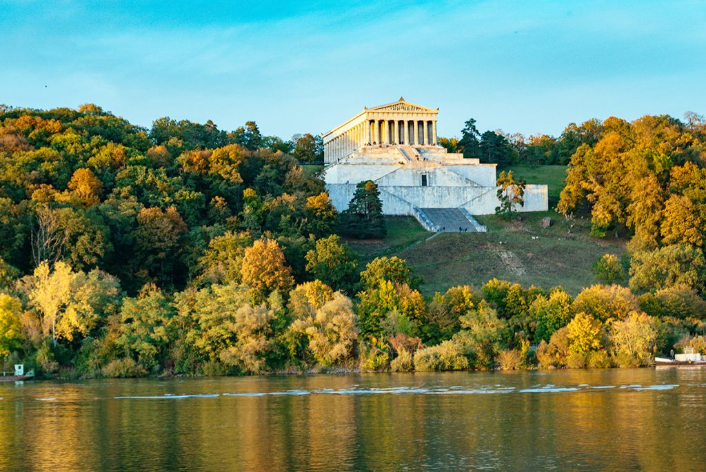 The Walhalla memorial in Regensburg, germany