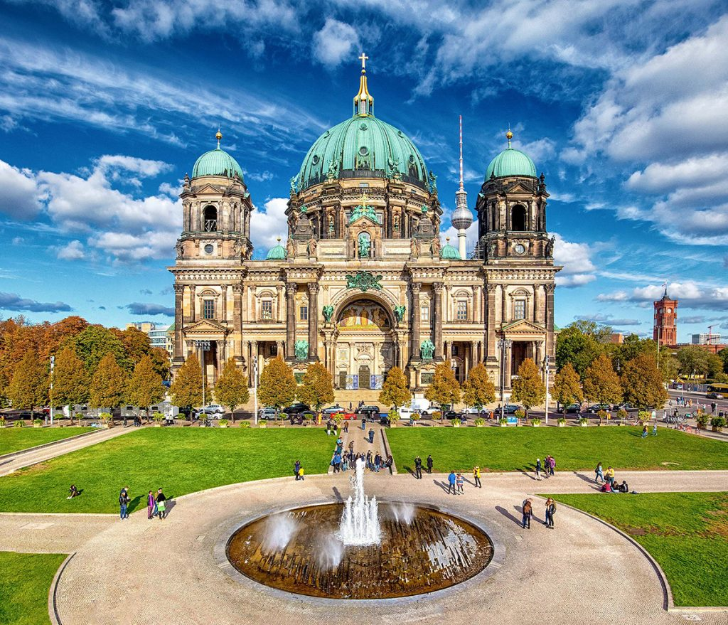 Berlin cathedral in the center of Germany's capital