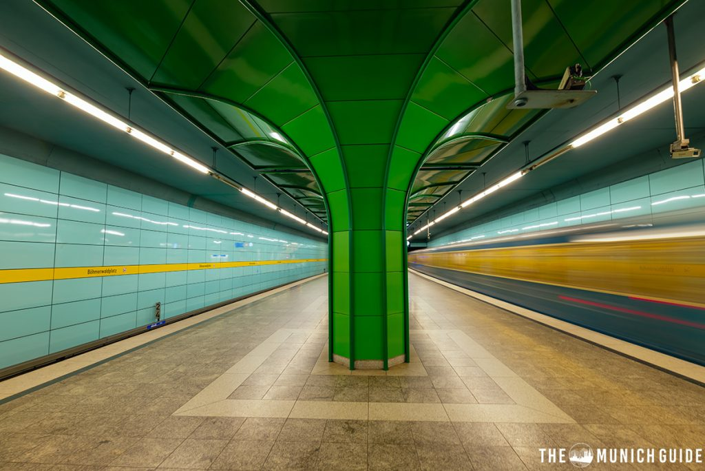 The subway station Böhmerwaldplatz in Munich Germany on the line u4