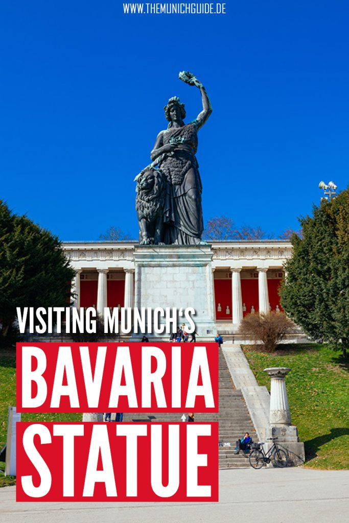 Visiting the Bavaria Statue at the Ruhmeshalle (hall of fame) in Munich, Germany