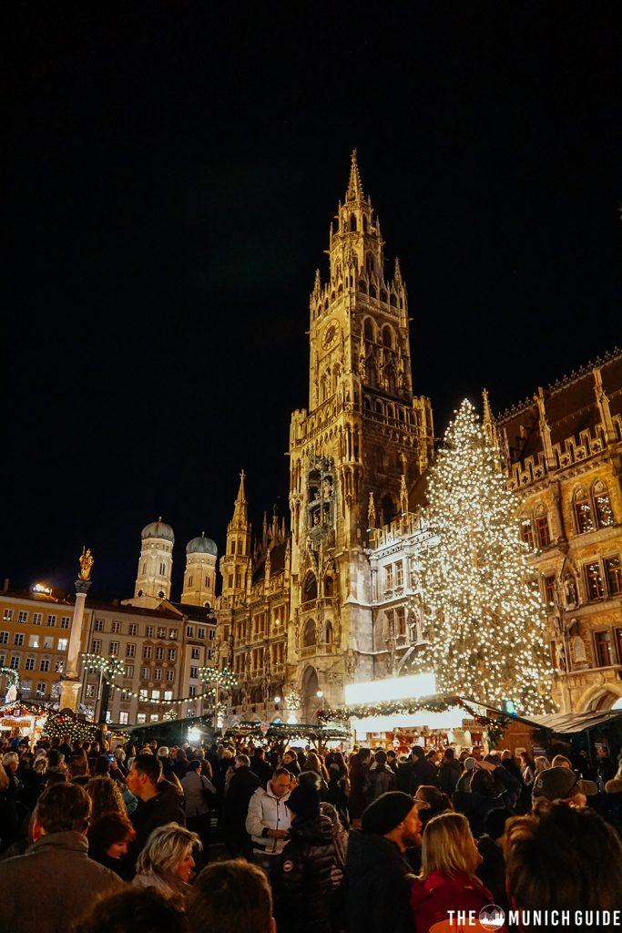 The Christmas market on Marienplatz in Munich, Germany