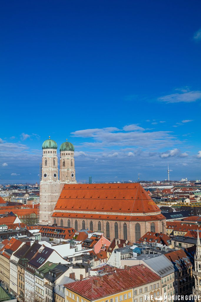 View of the Frauenkirche from the top of Alter Peter