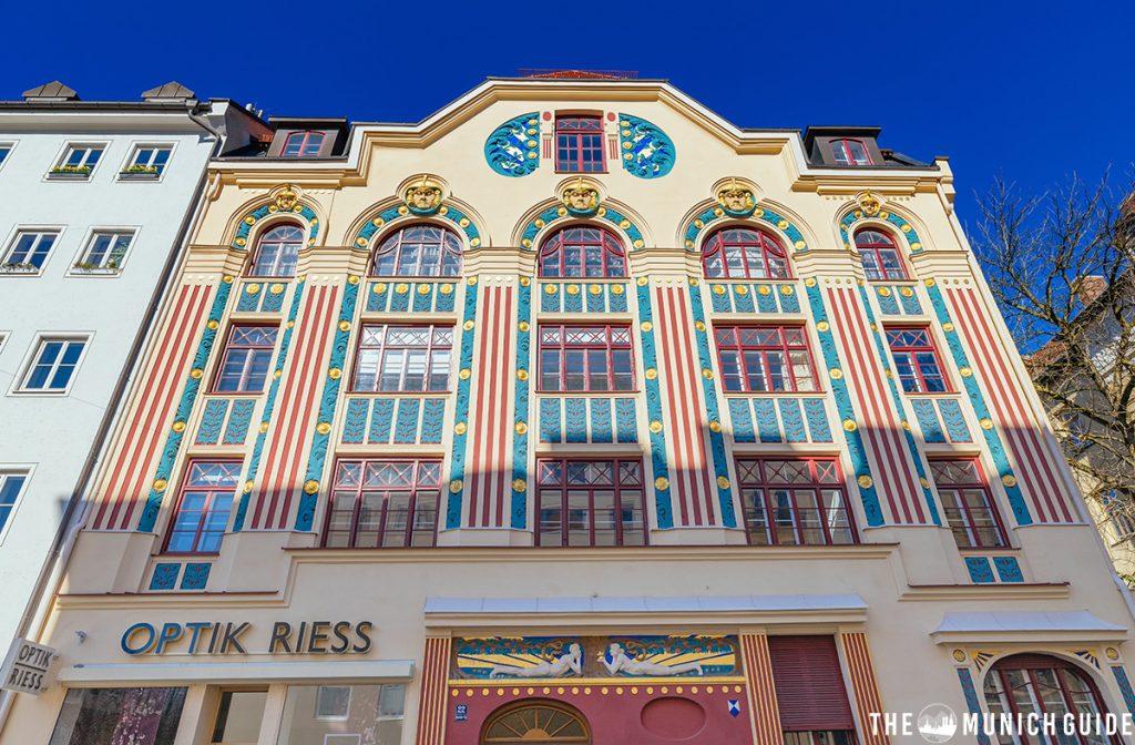 Jugendstil art nouveau house at ainmillerstraße in Munich