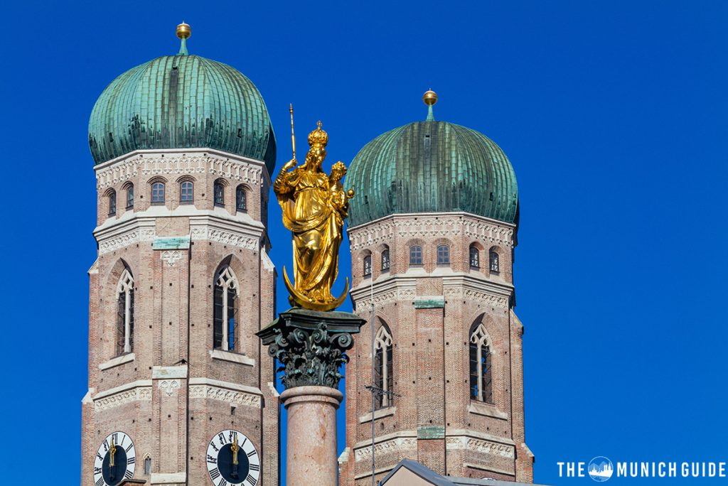 The onion-shaped domes of the Chuch of our Lady in Munich