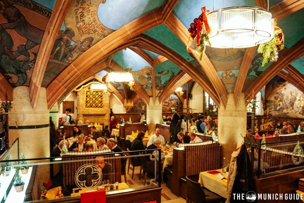 The ratskeller restaurant underneath the New Town Hall on Marienplatz in Munich