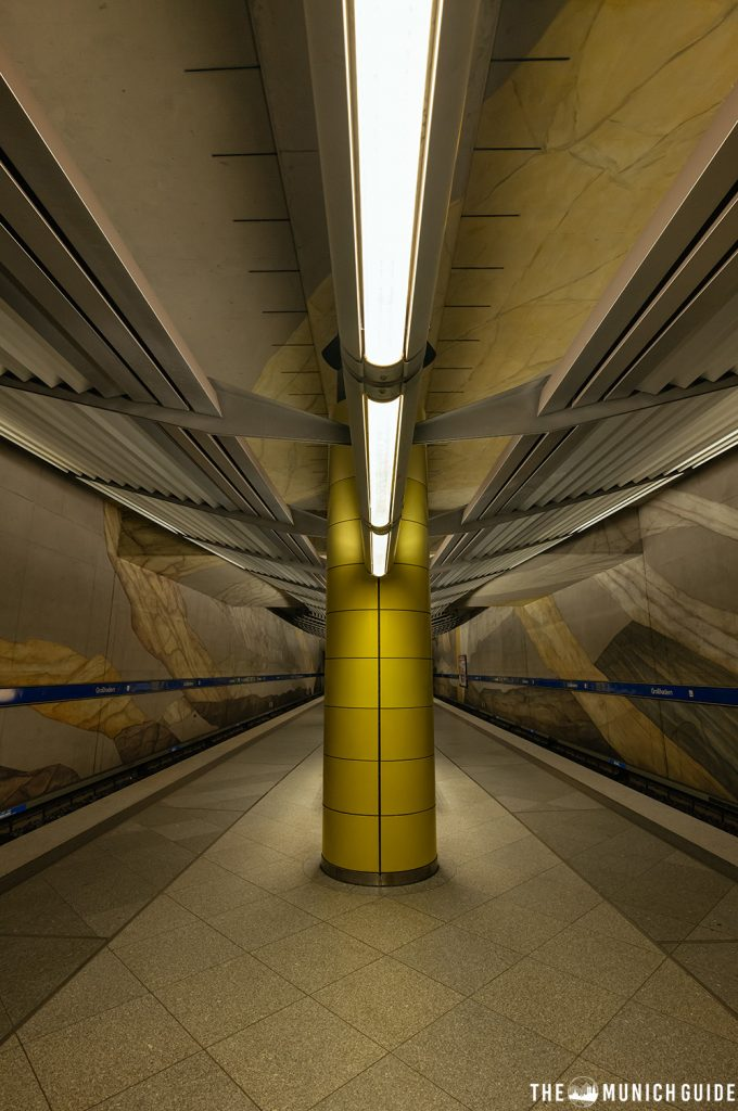 THe subway station in Großhardern in Munich, Germany