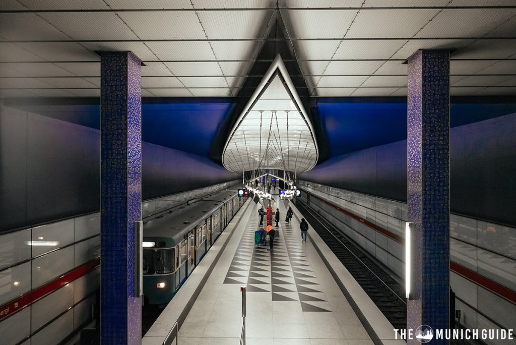 The subway station at Hasenbergl in Munich
