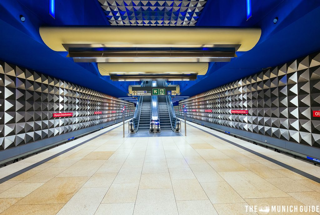 The subway station at Olympia Einkaufszentrum Munich