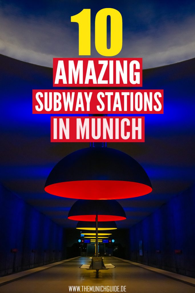 The most beautiful subway stations in Munich, Germany