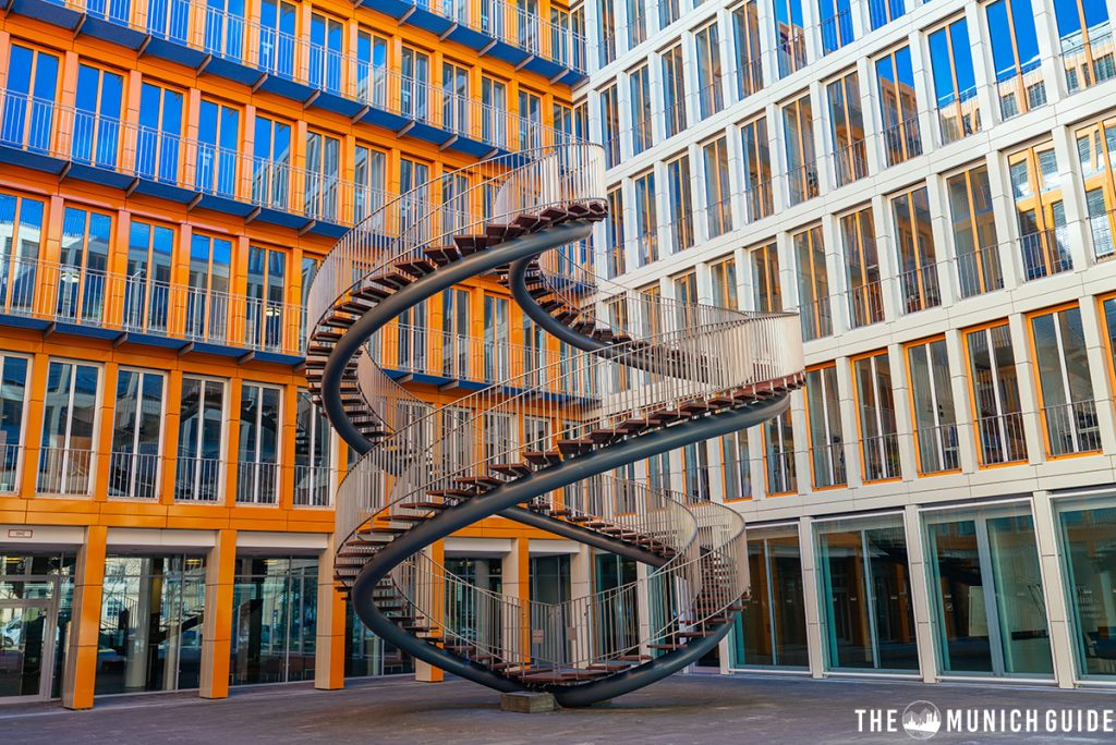 Full view of the photo spot Umschreibung in Munich - the famous endless stair